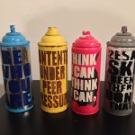 Hand-embellished Spray Cans