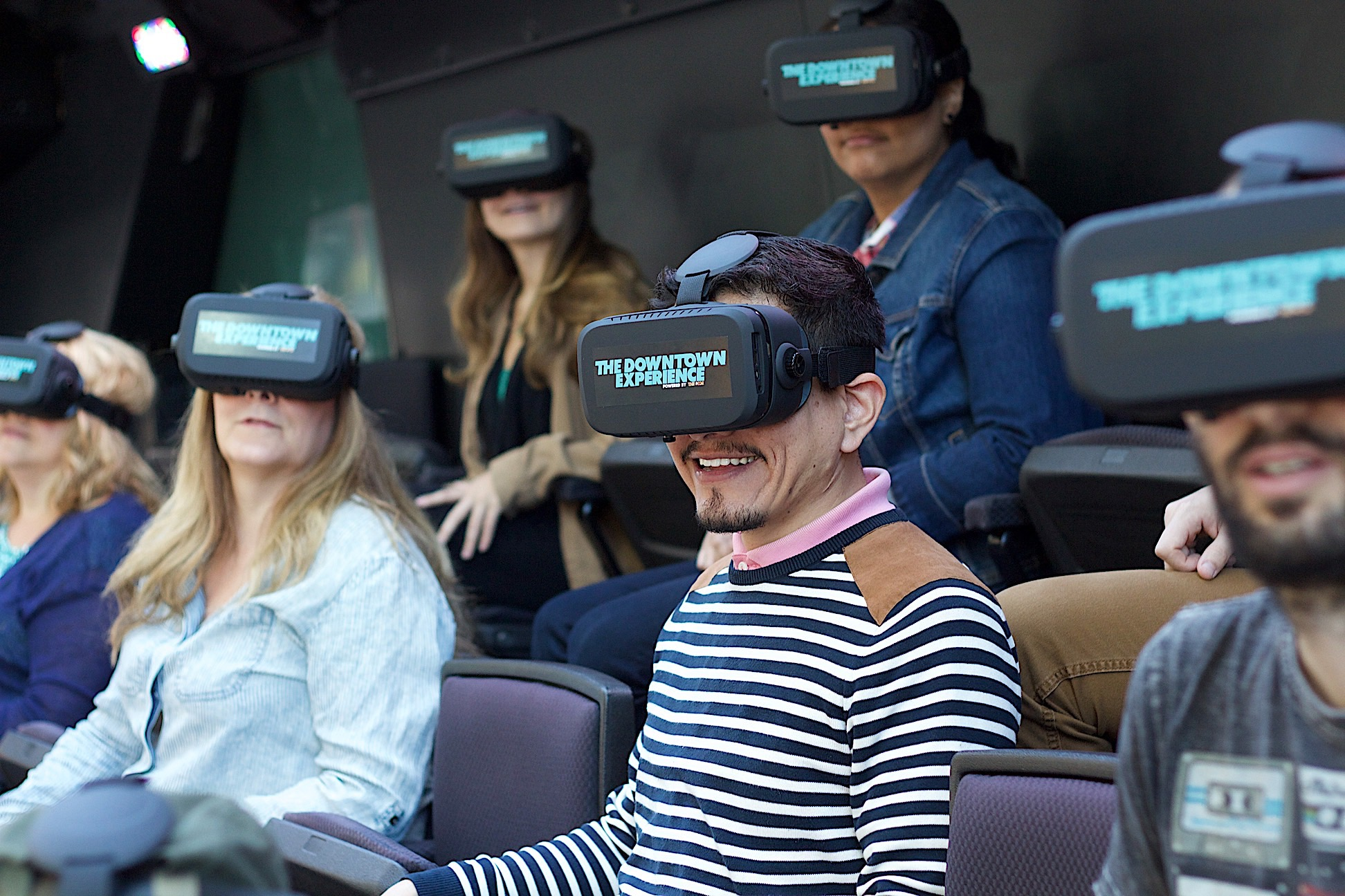 THE DOWNTOWN EXPERIENCE Powered by THE RIDE Virtual Reality Glasses