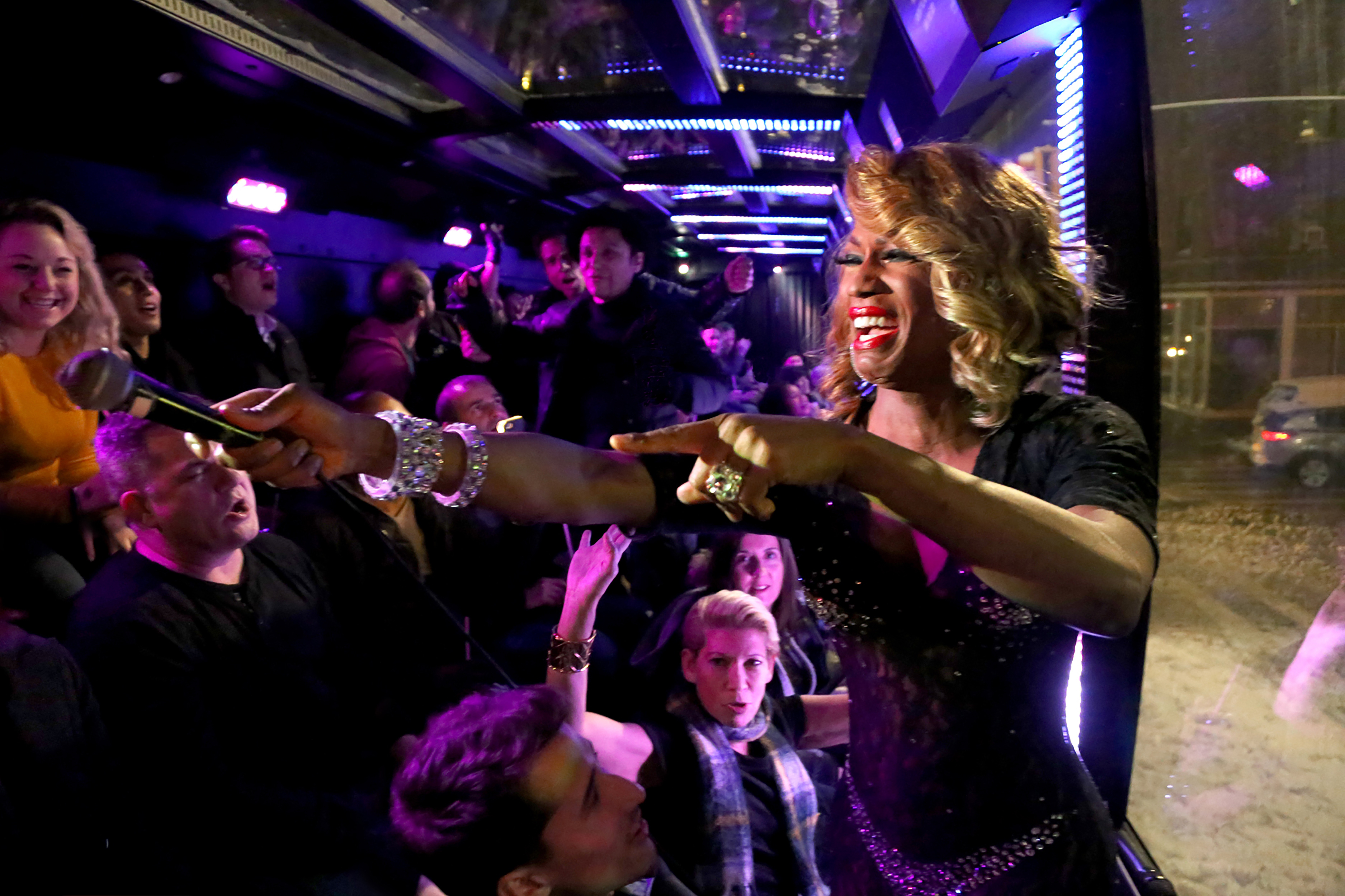 Queen of THE RIDE - Drag Queen Host & Guests onboard THE RIDE bus