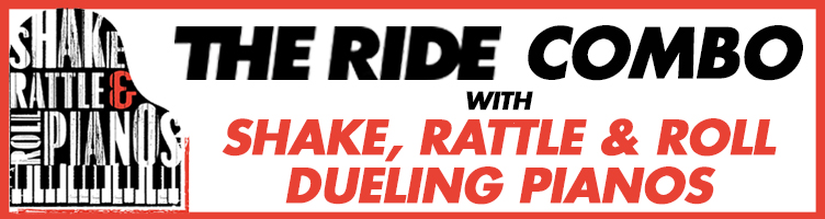 THE RIDE and Dueling Pianos Combo Logo